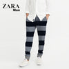 Zara Man Single Jersey Trouser For Men-Dark Navy & Zig Zag-NA5870