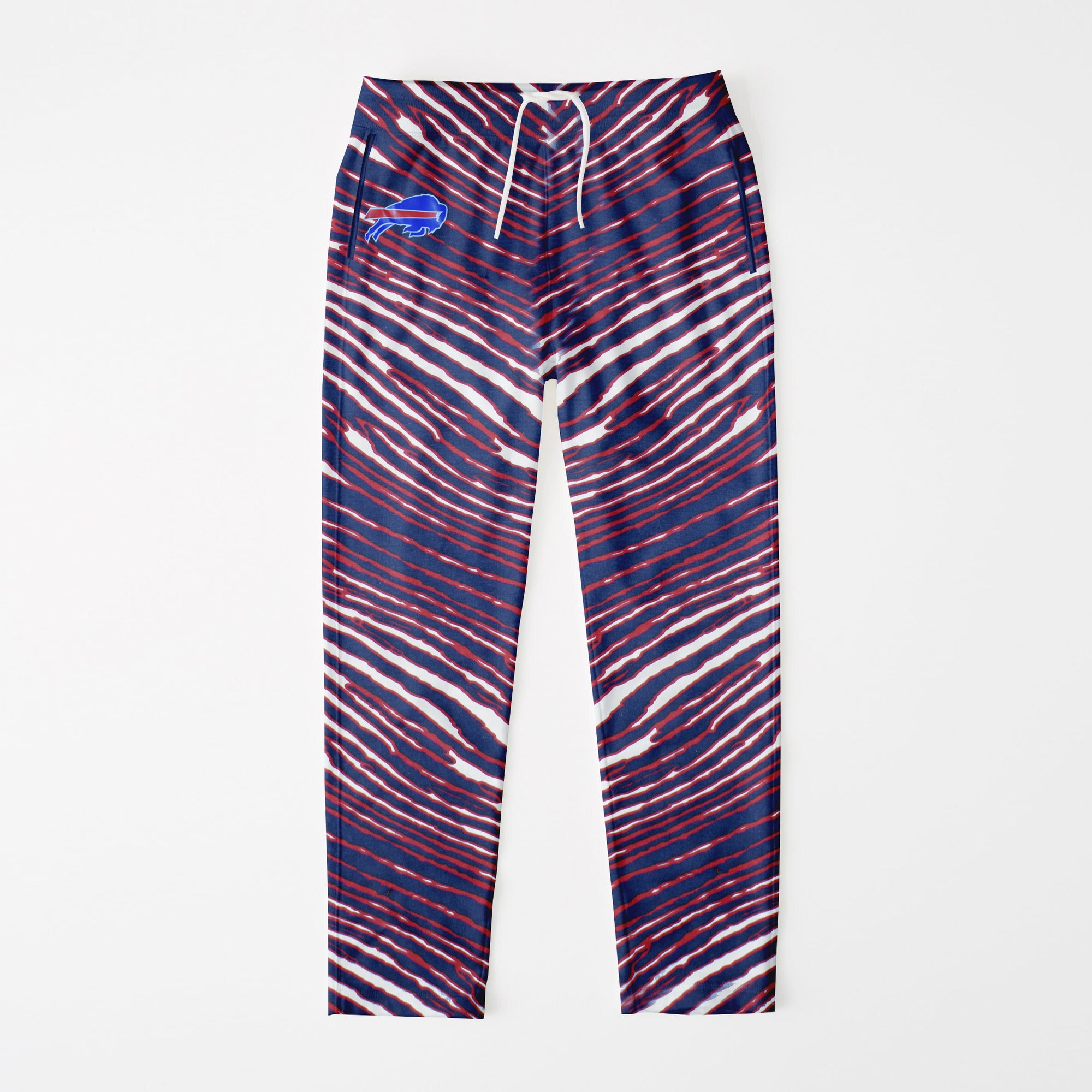 brandsego - Zubaz Zebra Print Regular Fit Trousers For Men-Navy/Red/White-NA9260