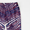 Zubaz Zebra Print Regular Fit Trousers For Men-Navy/Red/White-NA9260