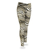 brandsego - Zubaz Zebra Print Slim Fit Trousers For Ladies-Black/Metallic Gold-NA9257