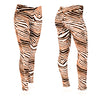 Zubaz Zebra Print Slim Fit Trousers For Ladies-NA9250