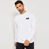 A&F Fleece Crew Neck Sweatshirt For Men-White-BE6890