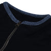 brandsego - A&F Fleece Full Zipper Mock Neck Jacket For Men-Black-BE6978