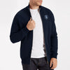 A&F Fleece Full Zipper Mock Neck Jacket For Men-Dark Navy-BE6980