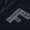 A&F Fleece Full Zipper Mock Neck Jacket For Men-Dark Navy-BE7469