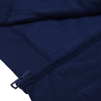 A&F Fleece Full Zipper Mock Neck Jacket For Men-Dark Navy-BS11