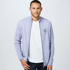 A&F Fleece Full Zipper Mock Neck Jacket For Men-Light Purple Melange-BE6981