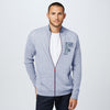 A&F Fleece Full Zipper Mock Neck Jacket For Men-Light Purple Melange-BE7502