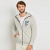 A&F Fleece Full Zipper Mock Neck Jacket For Men-Mint Cream-BE7498