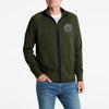 A&F Fleece Full Zipper Mock Neck Jacket For Men-Olive Green-BE7497