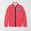 A&F Fleece Full Zipper Mock Neck Jacket For Men-Pink Melange-BS03