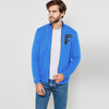 A&F Fleece Full Zipper Mock Neck Jacket For Men-Sky Melange-BE7499