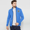 A&F Fleece Full Zipper Mock Neck Jacket For Men-Sky Melange-BE7501