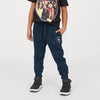 A&F Fleece Jogger Trouser For Kids-Navy Melange-BE7489