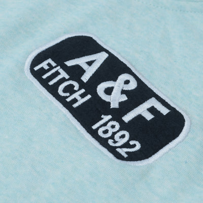 A&F Fleece Pullover Hoodie For Men-Cyan Green Melange-BE6725