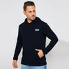 A&F Fleece Pullover Hoodie Grey & Navy Embroidery For Men-Dark Navy-BE6882