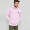 A&F Terry Fleece Pullover Hoodie For Men-Light Pink-BE6726