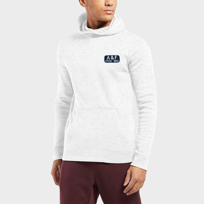 A&F Fleece Pullover Hoodie For Men-Off White with Melange-BE6654