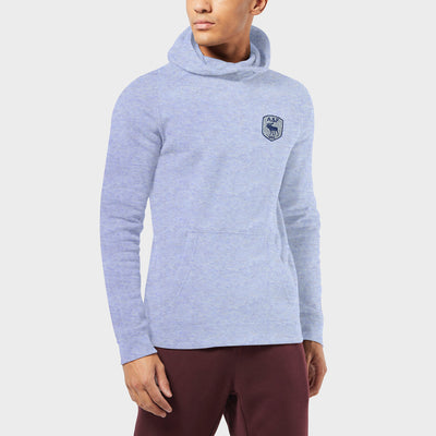 A&F Fleece Pullover Hoodie Navy & Grey Embroidery For Men-Purple Melange-BE7210