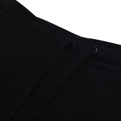 A&F Fleece Slim Fit Gathering Bottom Jogger Trouser For Men-Black-BS14