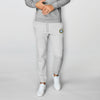 A&F Fleece Slim Fit Gathering Bottom Jogger Trouser For Men-Grey Melange-BE6601