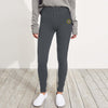 A&F Fleece Slim Fit Jogger Trouser Yellow & Maroon Embroidered For Ladies-Charcoal Melange-BE6946