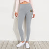A&F Terry Fleece Slim Fit Jogger Trouser Navy & Yellow For Ladies-Grey Melange-BE6957