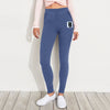 F&F Fleece Slim Fit Jogger Trouser For Ladies-Purple Melange-BE7371