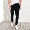 A&F Fleece Slim Fit Jogger Trouser For Men-Black-BE6762