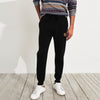 A&F Fleece Slim Fit Jogger Trouser For Men-Black-BE6856