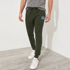 A&F Fleece Slim Fit Jogger Trouser For Men-Olive-BE6761