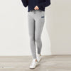 A&F Fleece Slim Fit Jogger Trouser Grey & Navy Embroidery For Ladies-Grey Melange-BE6959