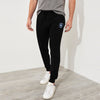 A&F Fleece Slim Fit Rib Bottom Jogger Trouser For Men-Black-BE6995