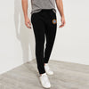 A&F Fleece Straight Fit Rib Bottom Jogger Trouser For Men-Black-BE6997