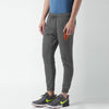 A&F Fleece Slim Fit Rib Bottom Jogger Trouser For Men-Charcoal Melange-BE7459