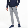A&F Fleece Slim Fit Rib Bottom Jogger Trouser For Men-Grey Melange-BE6905