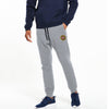 A&F Fleece Slim Fit Rib Bottom Jogger Trouser For Men-Grey Melange-BE6990