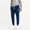 A&F Fleece Slim Fit Rib Bottom Jogger Trouser For Men-Prussian Blue Melange-BE7016