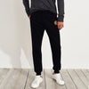 A&F Fleece Slim Fit Rib Bottom Jogger Trouser Maroon & Grey Embroidery For Men-Black-BE7017