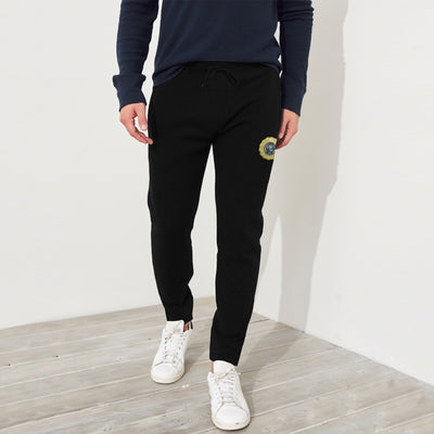 A&F Fleece Straight Fit Jogger Trouser For Men-Black-BE6899