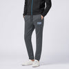 A&F Fleece Straight Fit Jogger Trouser For Men-Charcoal Melange-BE6578