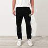A&F Fleece Straight Fit Jogger Trouser Navy & Yellow Embroidery For Men-Black-BE6857