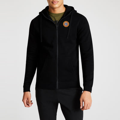 brandsego - A&F Fleece Zipper Hoodie For Men-Black-BE7152