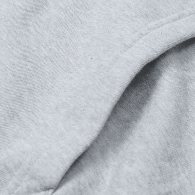 A&F Fleece Zipper Hoodie For Men-Grey Melange-BE6493