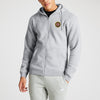 A&F Fleece Zipper Hoodie For Men-Grey Melange-BE7002