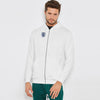 A&F Fleece Zipper Hoodie Navy & Grey Embroidery For Men-White-BE7151