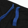A&F Regular Fit Single Jersey Trouser For Men-Charcoal With Royal Blue Embroidery-NA1188