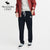 A&F Regular Fit Single Jersey Trouser For Men-Light Navy With White Embroidery-NA1171
