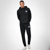 A&F Slim Fit Pullover Gathering Bottom Fleece Track Suit For Men-Black-BE6427