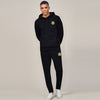 A&F Slim Fit Pullover Gathering Bottom Fleece Track Suit For Men-Black-BE6456
